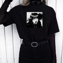Gotycki styl ciemne loli punk ubrania w stylu streetwear szalone modne dziewczęce Harajuku top na co dzień odzież hip-hop chic śmieszne O-neck kobiet T-shirt tanie tanio HIZILENT REGULAR Sukno CN (pochodzenie) Lato POLIESTER NONE tops Z KRÓTKIM RĘKAWEM SHORT Dobrze pasuje do rozmiaru wybierz swój normalny rozmiar