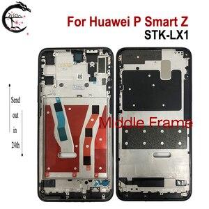 Rama środkowa do obudowy Huawei P Smart Z obudowa przedniej obudowy pssmartz STK-LX1 do wymiany telefonu