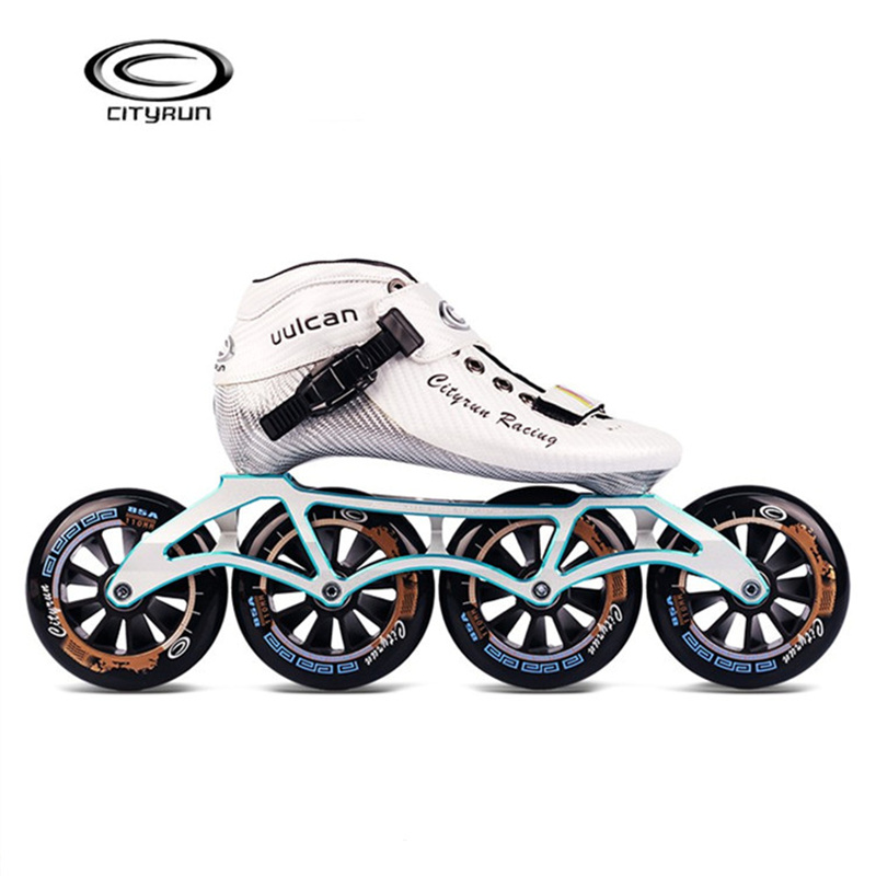 17th CITYRUN Vulcan Professional Speed Racing Competition Inline Speed Skates Race Sneaker 6-layers Carbon Fiber Handmade Fibre