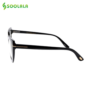 Image 2 - SOOLALA Spring Hinge Oversized Cat Eye Reading Glasses Womens Eyeglasses Frame Presbyopic Reading Glasses 0.5 0.75 1.0 to 5.0
