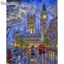 Gatyztory diy живопись по номерам Биг Бен в Лондоне краски для