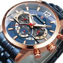 RECOMPENSA Relógios Dos Homens 2021 Homens Marca de Topo relógios de Pulso de Quartzo Relógio Do Esporte Cinta de Aço Cheio Relógios Chronograph часы мужские Novo Presente