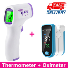 Pulse-Oximeter Spo2 Infrared-Thermometer Blood-Oxygen Fingertip Heart-Rate Saturation