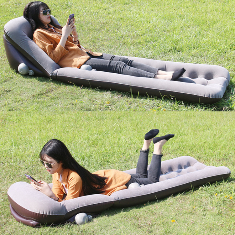 Press-type Inflatable cushion seat sofa chair camping outdoor inflatable air sofa bed portable sleeping pad