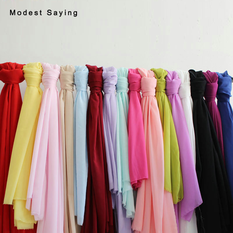 100D Scarf Chiffon Fabric Soft Georgette Fabric For Wedding Party Dresses Inner Material For Handmade DIY 3 Yards/lot 1.5m Width