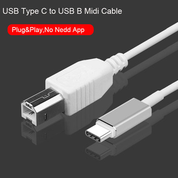 3 3ft kabel USB C do USB B kabel Midi typu C do USB Midi interfejs przewód do elektronicznego Instrument muzyczny Midi kontroler klawiatury kabel tanie i dobre opinie Reilim TYPE-C Mężczyzna Mężczyzna RL-TC-B CN (pochodzenie) Przedłużacz audio PLASTIKOWA TOREBKA Type C OTG Piano Cable