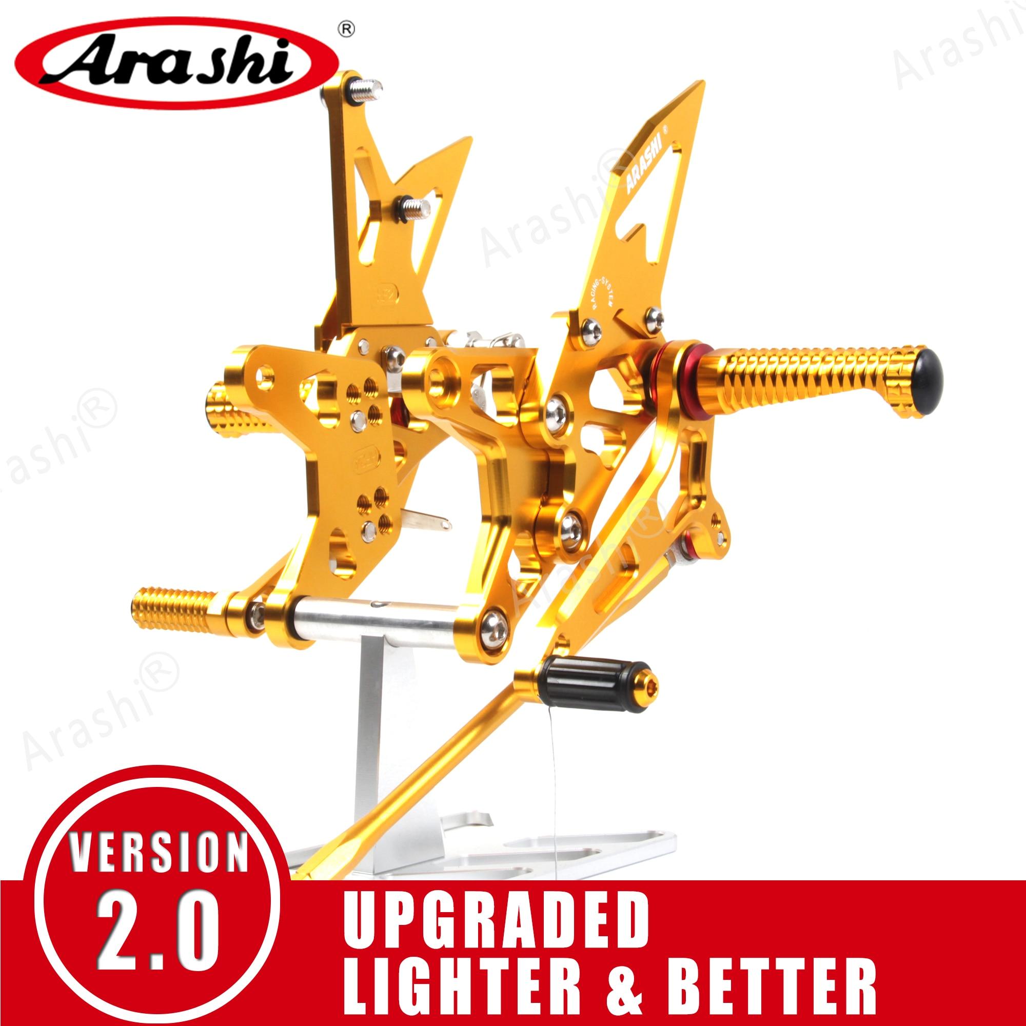 Arashi For HONDA CBR600RR 2003 - 2016 CNC Adjustable Rearset Foot Pegs Motorcycle Footrest CBR 600 CBR600 RR  2012 2013 2014