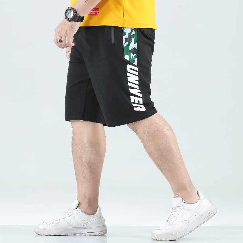 Loose Shorts Men Summer Large Size Male Fashion Streetwear Casual Sweatpants Elastic Workout Cotton Knee Length Shorts KK60ND