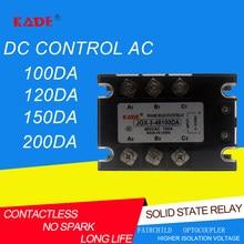Relé trifásico 480vac 3-32vdc do estado sólido da c.c. do controle de jgx/ssr 100da/120da/150da/200da