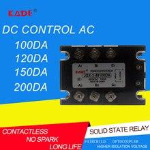 jgx/SSR 100DA/120DA/150DA/200DA DC Control AC Three Phase Solid State Relay 480VAC 3-32VDC
