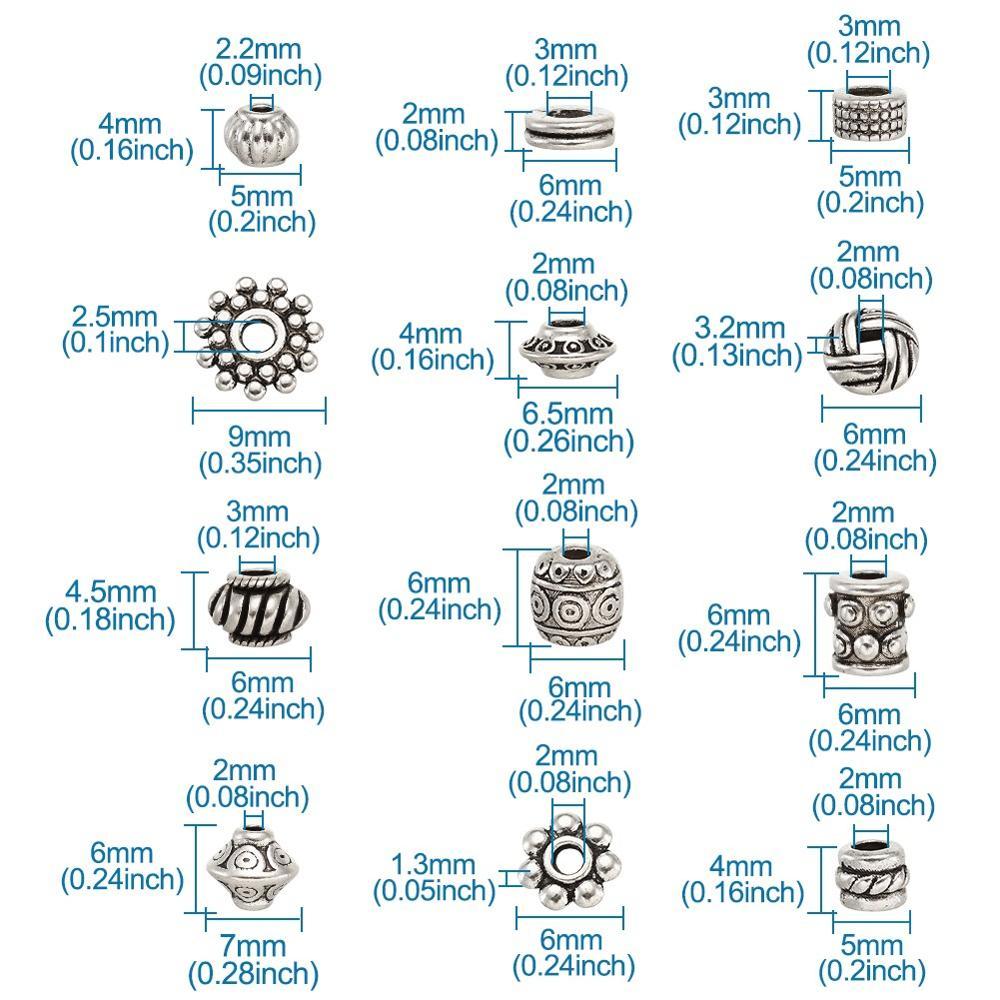 Тибетские античные Бусины Серебряного цвета разделители для