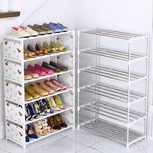 Cremalheira de sapato simples reforço forte multi-camada conjunto doméstico porta econômica dustproof armazenamento sapato armário dormitório