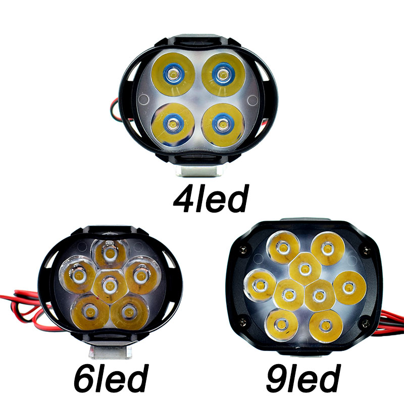 Motorcycle LED Work Head Lights Bar 12v Spotlight Scooter Moto Fog Lamp Motorcycle Spot Auxiliary Driving Lights Accessories
