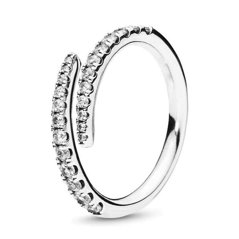 Кольцо на палец в форме сердечко серебряного цвета для женщин, европейская оригинальная Корона, изящные кольца на палец, свадебные украшения, 50 стилей, Прямая поставка - Цвет основного камня: Rings 038