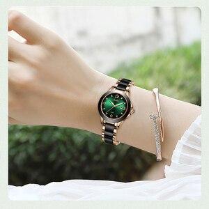 Image 2 - SUNKTA 2020 Watch Women Fashion Luminous Hands Date Lndicator Stainless Steel Strap Quartz Wrist Watches Lady Green Water Ghost