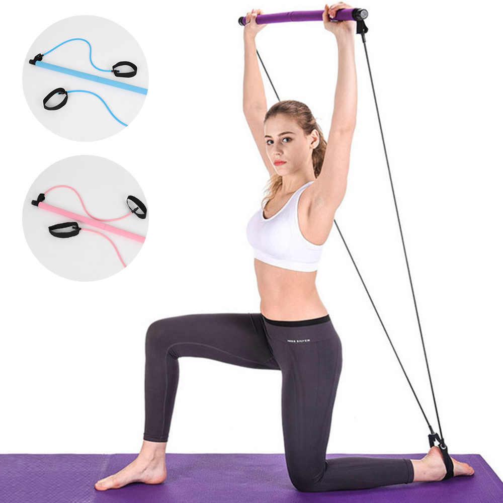 Pilates Dính Thanh Có Sức Đề Kháng Ban Nhạc Di Động Thể Dục Pilates Ống Cao Su Ban Nhạc Tập Yoga Tập Thể Dục Công Việc Đào Tạo Dụng Cụ Tập Thể Dục Tại Nhà