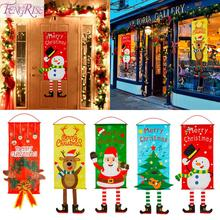 FENGRISE Cloth Christmas Hanging Flag Merry Decoration For Home 2019 Gift Cristmas Happy New Year