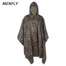 Menfly ПВХ Цифровой Камуфляжный походный рыболовный дождевик