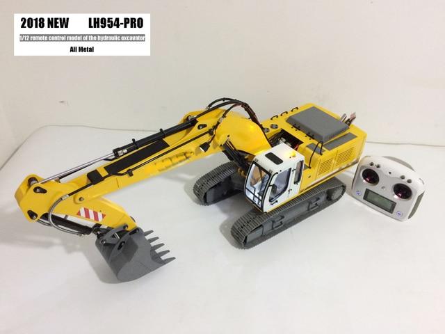 Upgraded Version RTR Full metal 1/12 RC excavator/RC hydraulic excavator model
