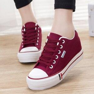 Image 5 - SWYIVY حذاء بكعب ويدج امرأة حذاء قماش أحذية رياضية منصة الصلبة جديد 2020 الربيع أحذية رياضية مكتنزة للنساء الخياطة السيدات الاتجاه الأحذية
