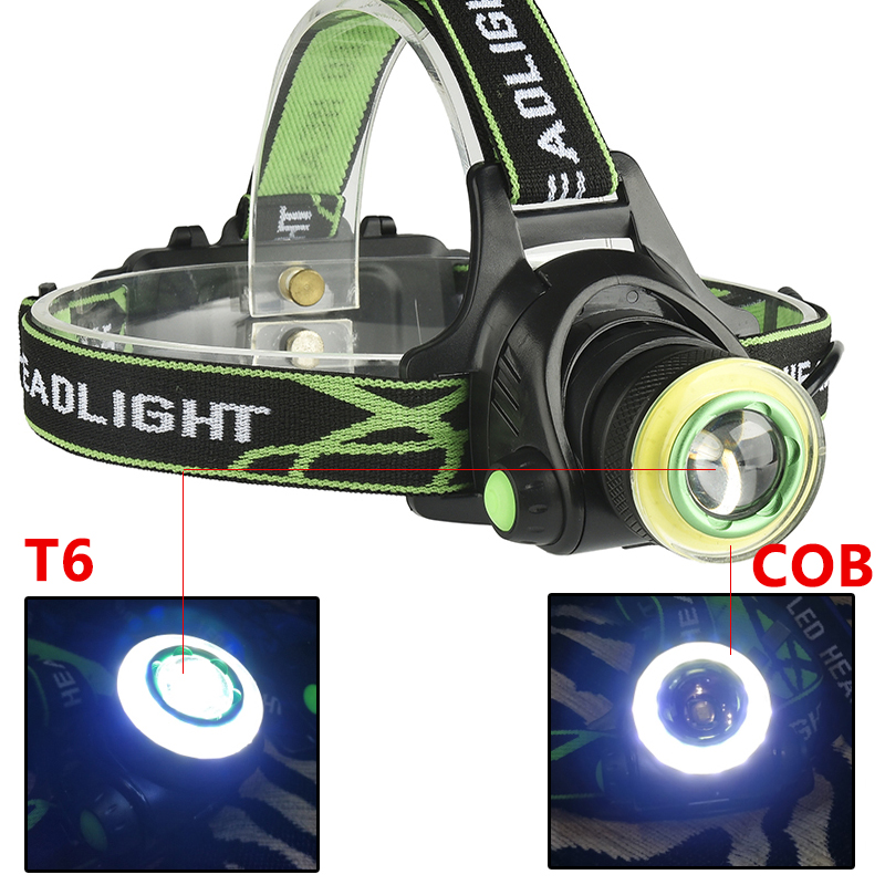 lowest price XM-L T6  amp  COB Led Headlamp Zoom Headlight 18650 Battery USB Rechargeable for Fishing Head Flashlight Lamp Torch Waterproof Light