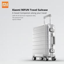 Xiaomi maleta de viaje con ruedas giratorias, equipaje de 20 pulgadas, con correa Y, varilla de tracción, aleación de aluminio Y magnesio de calidad superior