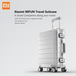 Image 1 - Xiaomi maleta de viaje con ruedas giratorias, equipaje de 20 pulgadas, con correa Y, varilla de tracción, aleación de aluminio Y magnesio de calidad superior