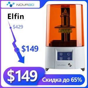 3d принтер NOVA3D ELFIN 3D принтер с постоянным выравниванием дизайн Поддержка 405nm Смола УФ SLA 3D принтер фонарь принтера отверждения Impresora 3D