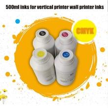 1 Kits 4 Bottle 500ML Universal UV Ink / UV LED Ink For Epson UV flatbed Printer / 3D UV Printer For DX4 DX5 DX6 DX7 Printhead new improved universal led uv black ink for epson uv flatbed printer