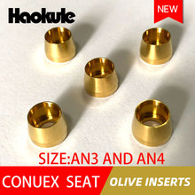 Haokule CONUEX SEAT OLIVE INSERTS AN3/3AN AN4/4AN Hose End M10*1.0 TEFLON PTFE HOSE END FITTING  BRAKE SYSTEM FITTINGS