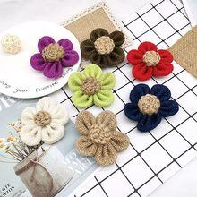 Лента из натуральной джутовой мешковины цветок льняной сделай