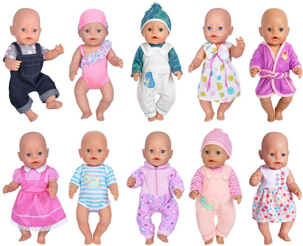 Fashion Clothes Suit Fit For 43cm Baby New Born Doll 17 Inch Dolls Clothes,Children Best Birthday Gift