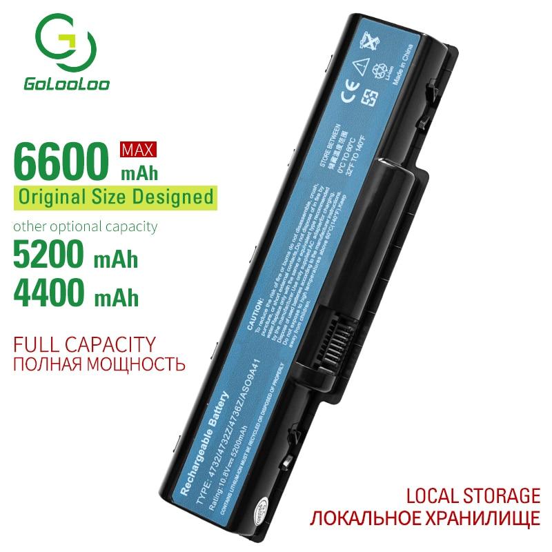 Golooloo 6 Cells Laptop Battery For Acer Aspire 4732 5332 5334 5516 5517 5532 5734Z For EMachine  D525 D725 E525 E527 E625 E627