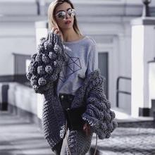 Fall 2019 hand-woven womens sweater hair ball  women