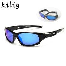 Esporte óculos de sol crianças polarizadas óculos de sol menina menino ao ar livre óculos flexíveis uv400 oculos