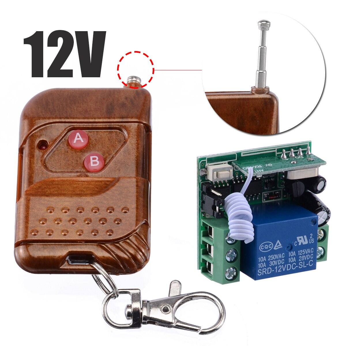 Universal 433MHZ Drahtlose Fernbedienung 1 Kanal Drahtlose Relais Schalter Empfänger Sender Schlüssel für Elektrische Garage Tür
