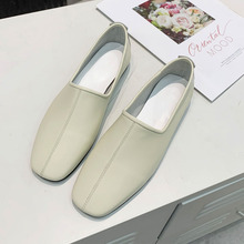 2020 Fashion low-heeled non-slip shoes women summer and autumn non-slip square toe flat shoes shallow mouth simple Ballet Flats цена 2017
