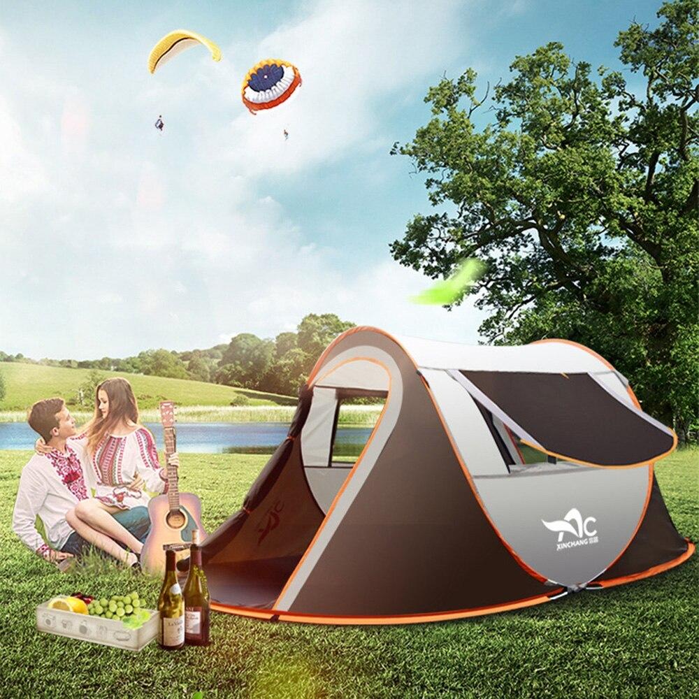 Odkryty duży namiot turystyczny w pełni automatyczny natychmiastowy rozkładany wodoodporny namiot rodzinny wielofunkcyjny przenośny namiot odporny na wilgoć