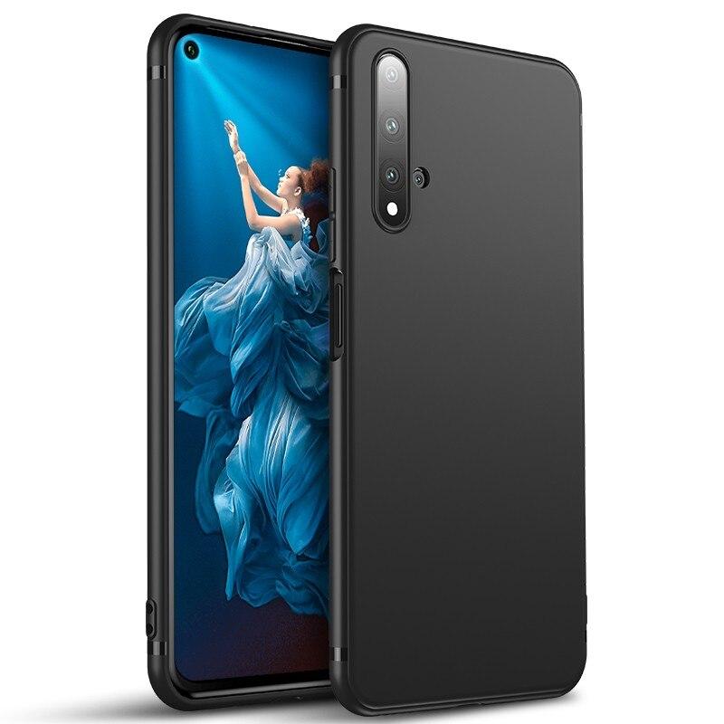 Lainergie pour Huawei Honor 20 Pro étui Simple vendu fin mat souple Silicone coque arrière coques de téléphone pour Honor 20S Honor 20 Lite