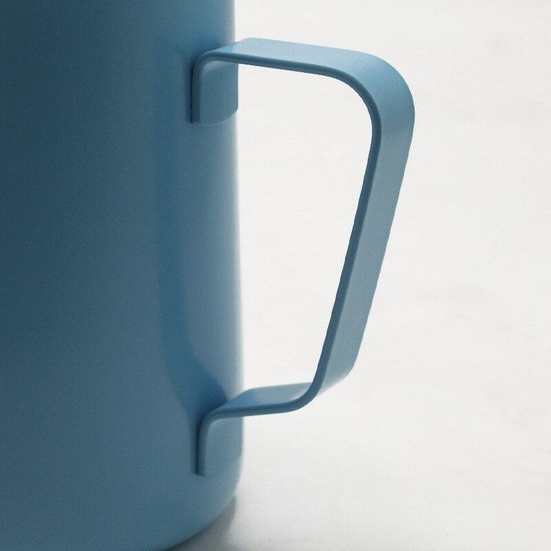 Image 5 - 600ml acier inoxydable lait mousseur cruche expresso café pichet  Barista artisanat café Latte lait mousseur pichet 6 couleursLait  Cruches