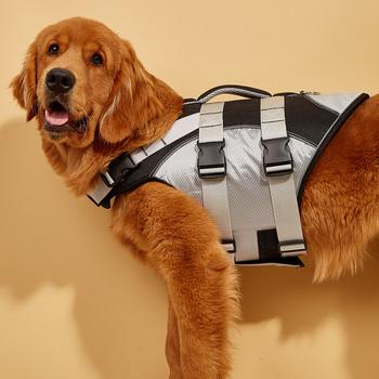 Kamizelki ratunkowe dla zwierząt kamizelki ratunkowe dla psów duże średnie i małe psy kamizelki bezpieczeństwa dla psów tanie i dobre opinie CN (pochodzenie) POLIESTER Casual high quality