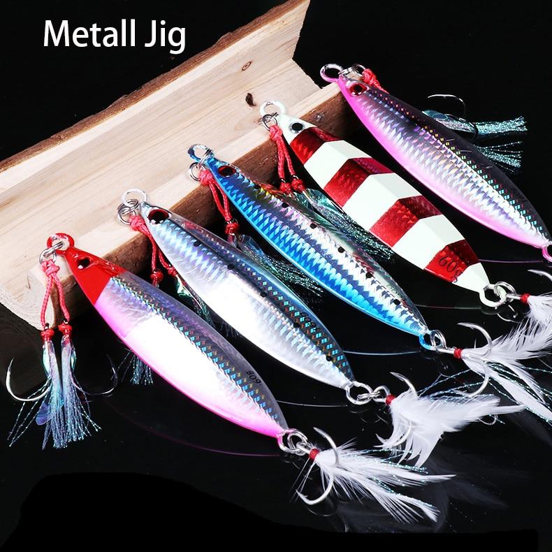 1pc 20g 30g 40g 60g 80g 100g Spoon Spinnerbait Metal Bait Bass Tuna Lures Jig Lead Minnow Pesca Tackle Fishing Jigging Lure14