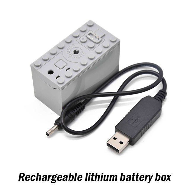 Technic parts for Lepinblock multi RC power functions rechargeable lithium battery box blocks engine xl motor PF model 88002
