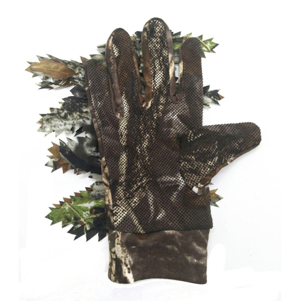 1 paire pêche chasse 3D feuille gants garder au chaud chasse Camping cyclisme Camouflage plein air Sport équipement de pêche