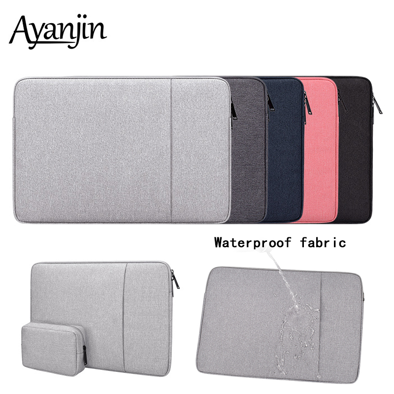 Waterproof Polyester sleeve <font><b>Pouch</b></font> Bags 14 <font><b>15.6</b></font> inch For Macbook Air 13 Pro 15 Laptop Bag For Xiaomi Asus Lenovo <font><b>Notebook</b></font> Case image