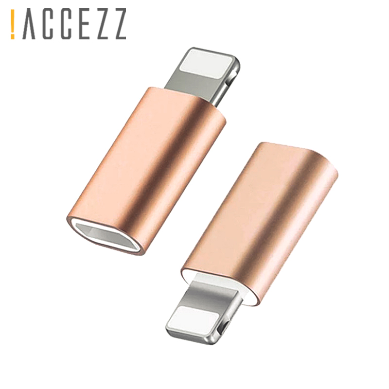 !ACCEZZ 2PC Micro USB To Lighting Adapter For iPhone 5 6 7 8 Plus X XS 11 Mini OTG Data Sync Charging 8 Pin Male Phone Converter(China)