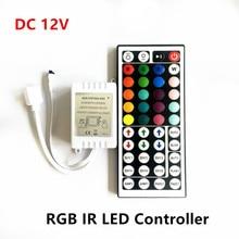 DC12V 44 Keys IR RGB LED Controller 6A 72W LED Driver Remote Dimmer For SMD 2835 3528 5050 3014 5630 RGB LED Strip Lights