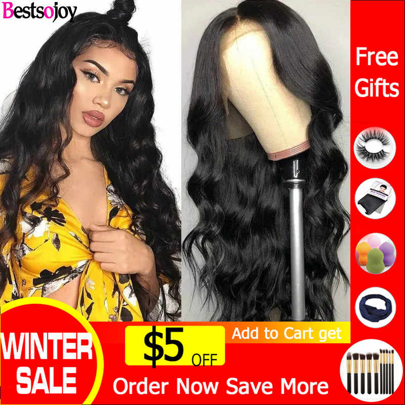 Bestsojoy Body Wave 360 Lace Frontal Wig Full lace human hair wigs For Women Pre Plucked 13x6 Lace Front Human Hair Wigs Remy