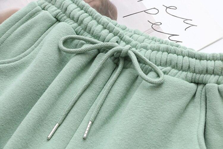 H1a3974720d7143d4a15f0f5726dd1da7z Tangada 2020 Autumn Winter Women warm yellow fleece 100% cotton suit 2 pieces sets o neck hoodies sweatshirt pants suits 6L24