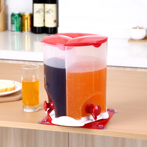 Distributeur de boissons 3 grilles | Distributeur de jus, bière, jus et vin rotatif séparé fournitures avec robinet pour la maison, le Bar et la fête